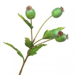 Ветка мак зеленый 60 см