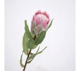 """Ветка цветок """"Протея"""" розовая 49 см"""