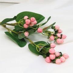 "Ветка ""Омела"" розовая 67 см"