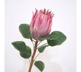 """Ветка цветок """"Протея"""" темно-розовая 65 см"""