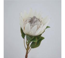 "Ветка цветок ""Протея"" 65 см - белая"