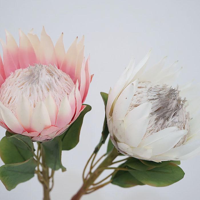 """Ветка цветок """"Протея"""" 65 см - розовая"""