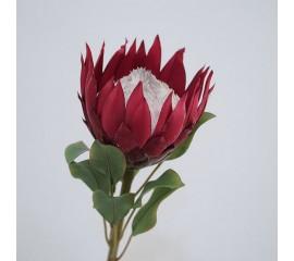 """Ветка цветок """"Протея"""" 65 см - красная"""