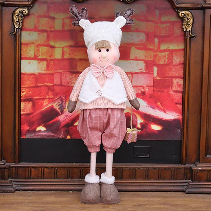 """Новогодняя кукла """"Мальчик с подарком"""""""