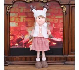 """Новогодняя кукла """"Девочка с подарком"""""""