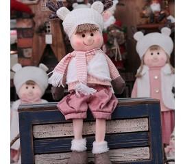 """Новогодняя кукла сидячая """"Мальчик"""""""
