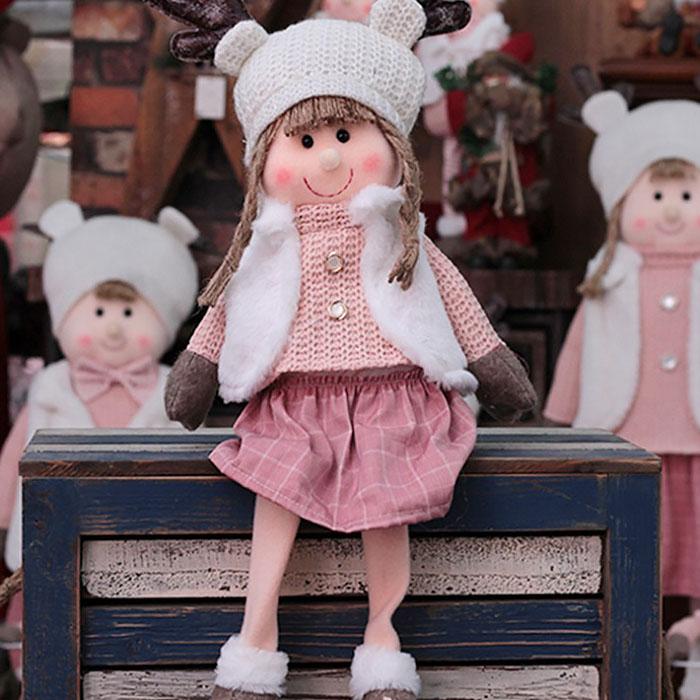 """Новогодняя кукла сидячая """"Девочка"""""""