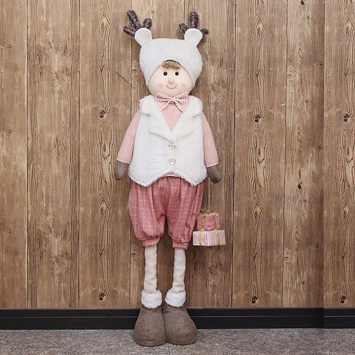 """Новогодняя кукла  """"Мальчик"""" 100 см"""