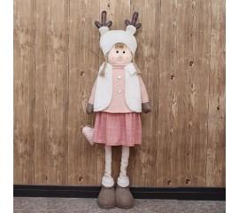 """Новогодняя кукла  """"Девочка"""" 100 см"""