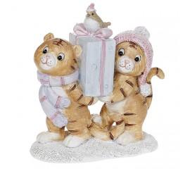"""Символ года """"Тигрята с подарком"""" 10 см"""