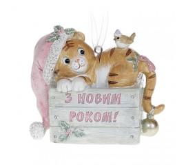 """Символ года подвеска  тигренок """"С новым годом"""" 9 см"""