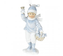 """Подвеска """"Мальчик в голубом с корзинкой"""" 13 см"""