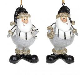 """Подвеска """"Санта в черной шапке"""""""