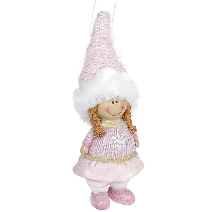 """Подвеска """"Девочка в меховой шапке"""" 14 см"""