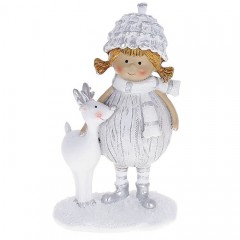 """Фігурка """"Дівчинка з оленем"""" 13 см"""