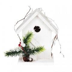 Декоративный домик в снегу 17 см