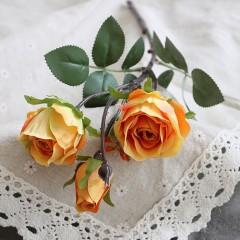 Ветка бутон розы оранжевая 45 см