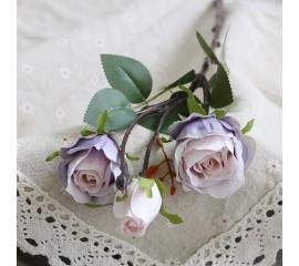 Ветка бутон розы сиреневая 45 см