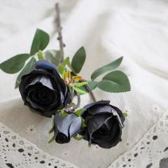 Ветка бутон розы черная 45 см