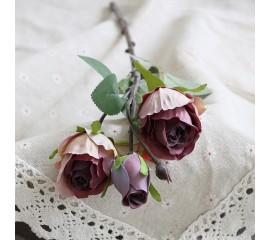 Ветка бутон розы бордо 45 см