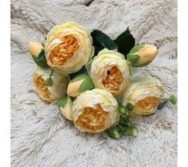 """Букет роза """"Остина"""" темно-персиковая"""