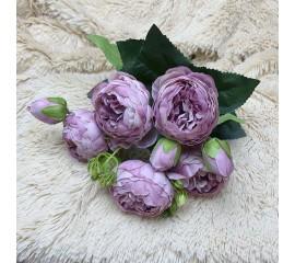 "Букет роза ""Остина"" темно-розовый"