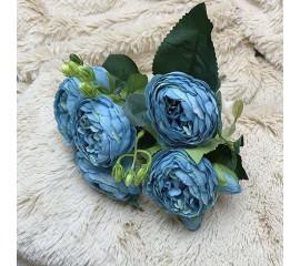 """Букет роза """"Остина"""" синий"""