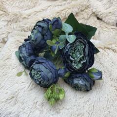 """Букет роза """"Остина"""" сине-черный"""