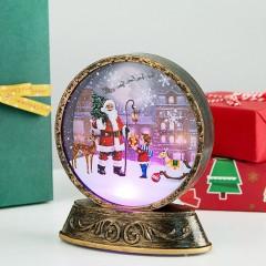 Підсвічник ліхтарик зі світлодіодним підсвічуванням RGB - Санта