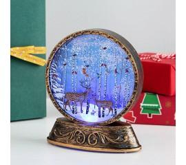 Подсвечник фонарик со светодиодной подсветкой RGB - Олени