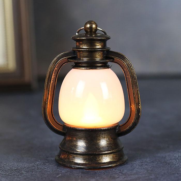 """Мини-фонарик """"Керосиновая лампа"""" матовый 9 см"""