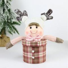 """Новогодняя мини-коробка """"Кукла"""" коричневая"""