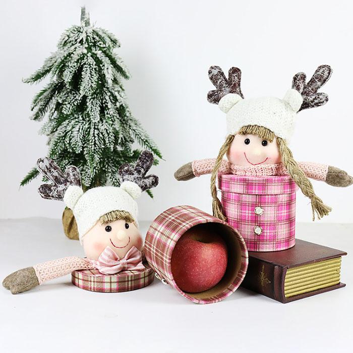"""Новогодняя мини-коробка """"Кукла"""" розовая"""