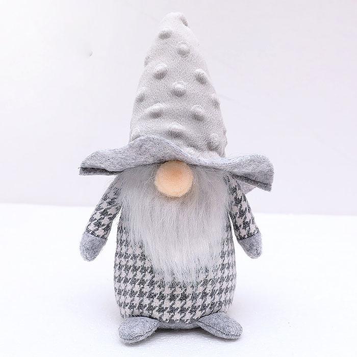 """Мягкая игрушка """"Гномик мальчик"""" - серый"""