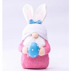 """Мягкая игрушка """"Гномик с яйцом"""" в шапке с ушками"""
