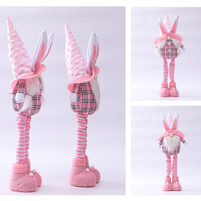 """Мягкая игрушка """"Розовый гномик мальчик"""" в шапке с ушками"""