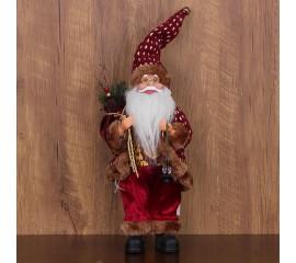 """Игрушка """"Дед Мороз"""" в бордовом 30 см"""