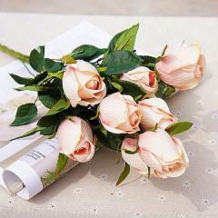 Букет роза в бутоне - персиковая