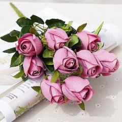 Букет роза в бутоне - розовая