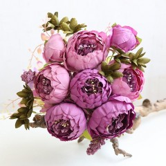 Букет пионы фиолет+розовые