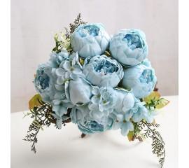 Букет пионы голубые