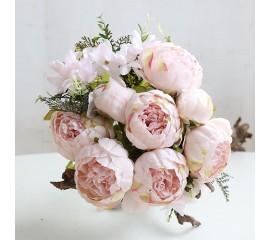 Букет пионы нежно-розовые