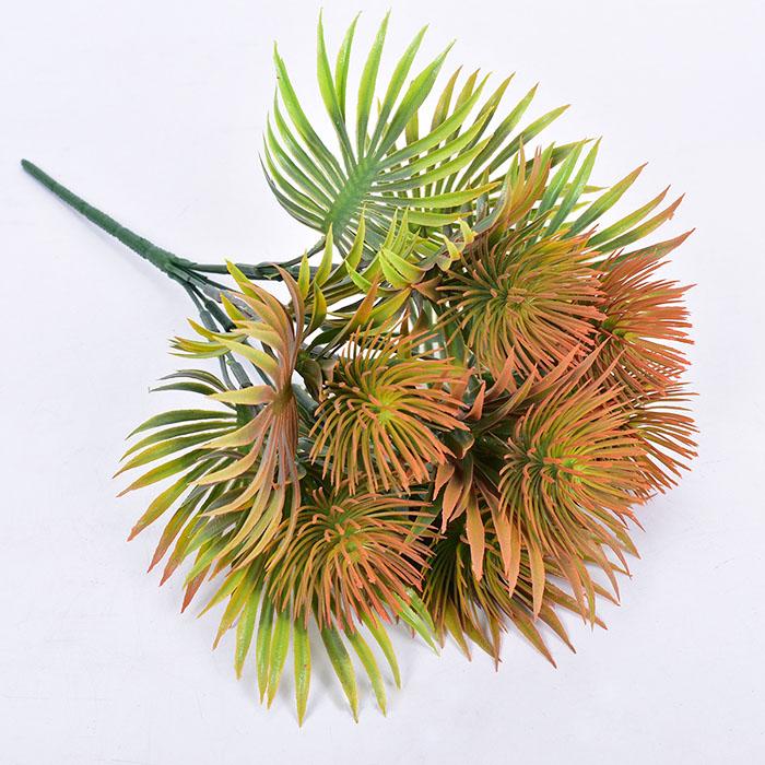 Букет зелени чертополох оранжевый