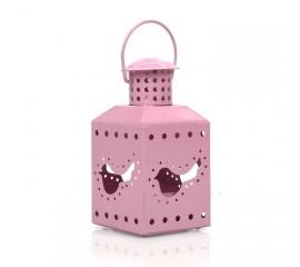 Подсвечник розовый 11см