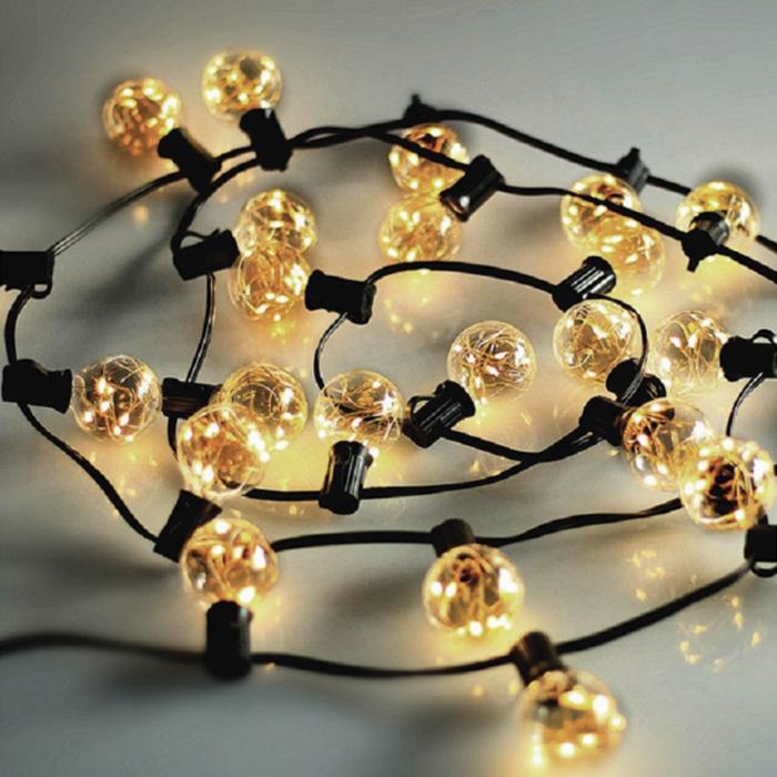 Гирлянда со светодиодными нитями, лампы G40 - 3 метра, 25 ламп