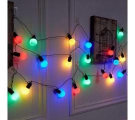 Гирлянда с лампочками 20 л., 6,5 м. цветные