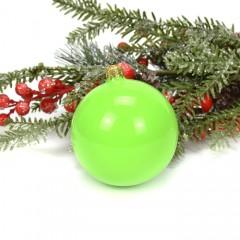 Елочный шар салатовый 8 см