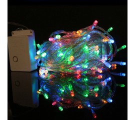 Гирлянда стринг 100 led, 10 м., 8 режимов, цветная