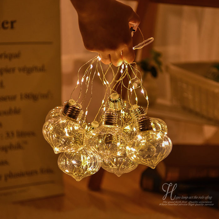 """Гирлянда """"Декоративные лампочки"""" 100 led 10 ламп 2,5 м"""