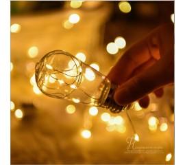 """Гирлянда """"Лампочки овальные"""" 100 led 10 ламп 2,5 м"""